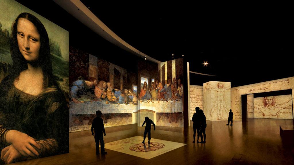 Exposição arte imersiva Leonardo da Vinci em São Paulo