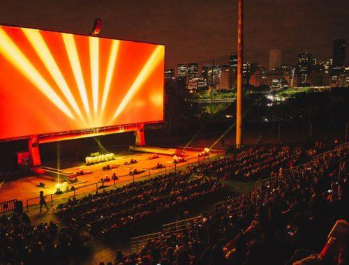 maior cinema ao ar livre do mundo shell open air