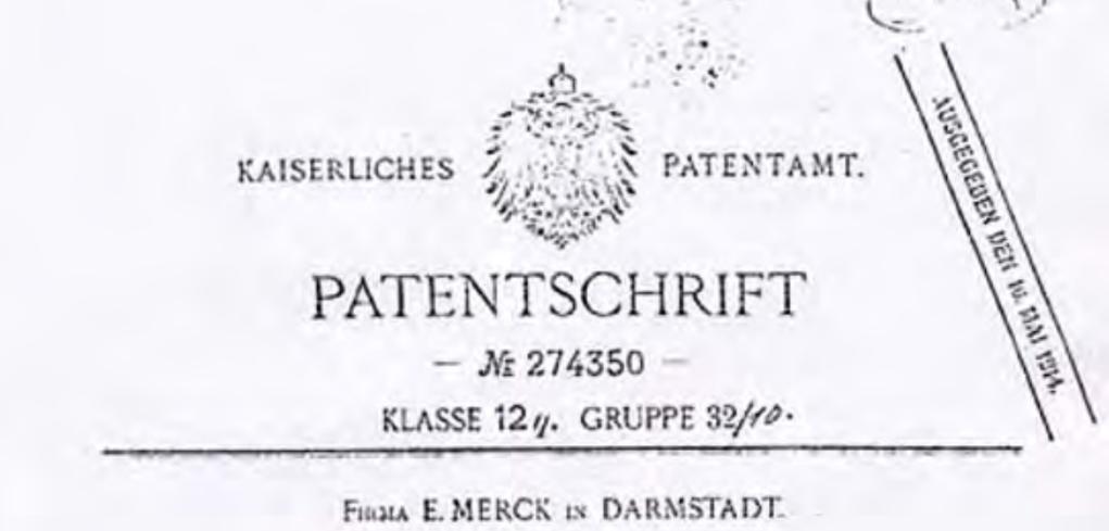 patente do mdma 1912
